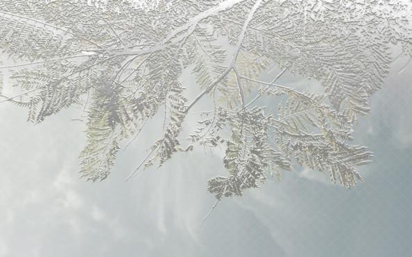 Фотообои тиснение листьев