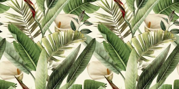 Фотообои Яркие тропические листья