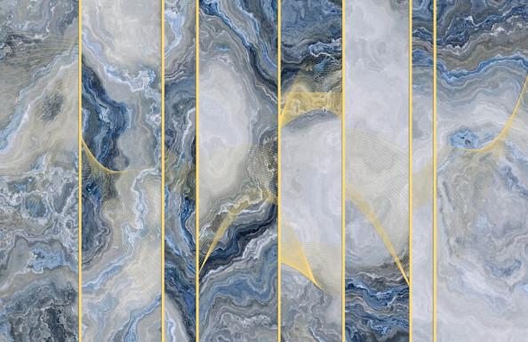 Фотообои флюид с золотом