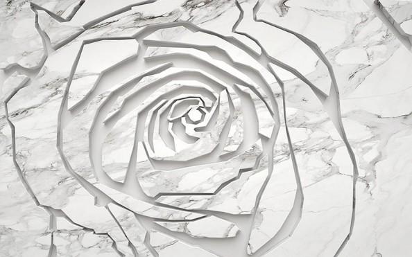 Фотообои Мраморная стена в выде розы