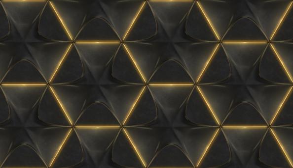 Фотообои Стена с золотом и узором 3д