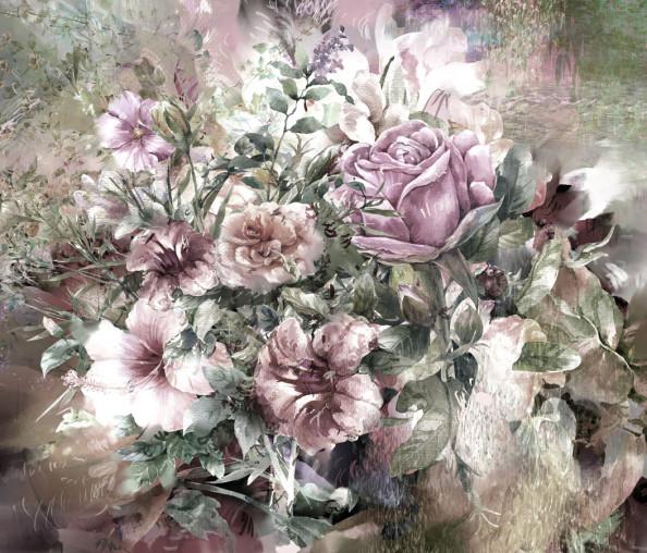 Фотообои Арт цветы