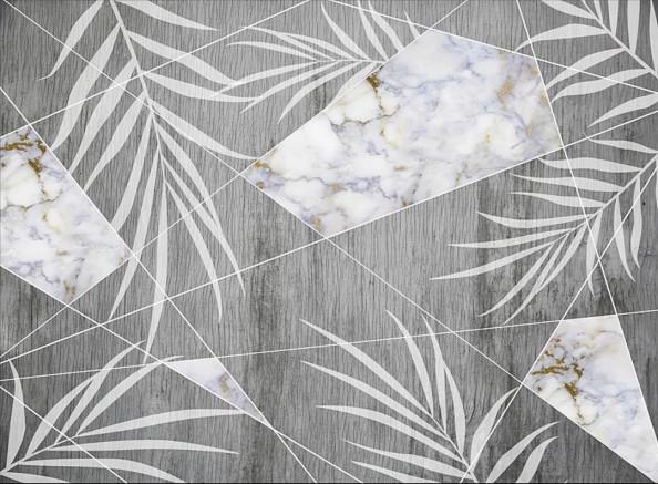 Фотообои Листья и мрамор
