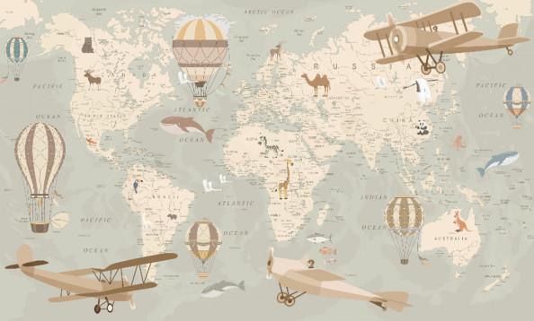 Фотообои  Карта развивающая