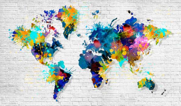 Фотообои Карта мира в виде Арт