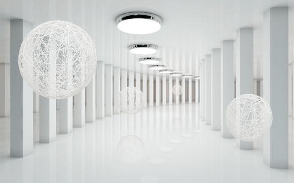 Фотообои Абстрация, тоннель с шарами