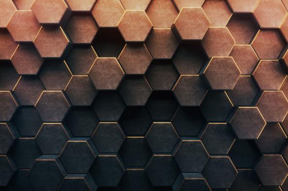 Фотообои Коричневые шестиугольники