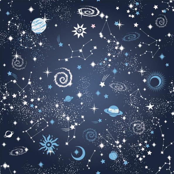Фотообои Созвездие на синем фоне