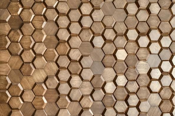 Фотообои Стена из шестиугольников