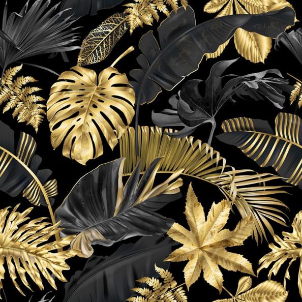 Фотообои Золотистые листья