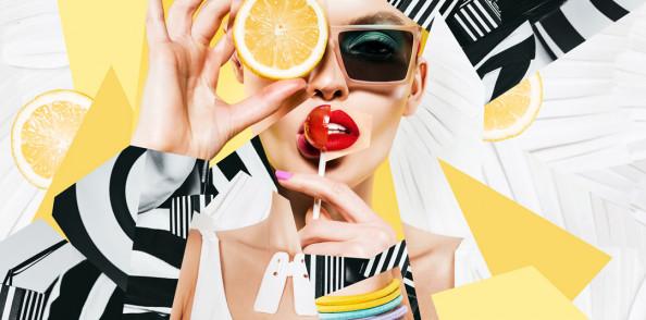 Фотообои Девушка с апельсином для салона красоты