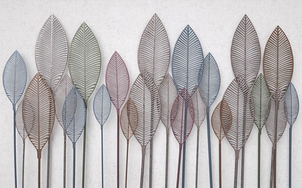 Фотообои Обьемные листики