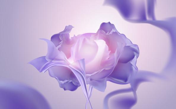Фотообои фиолетовый цветок
