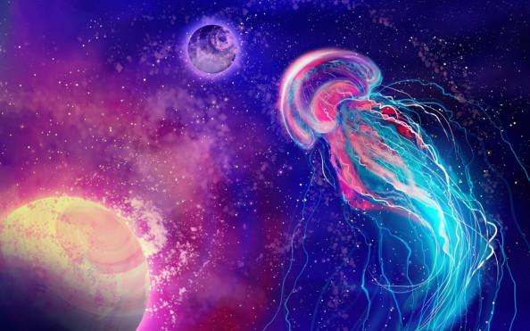 Фотообои космос и медуза
