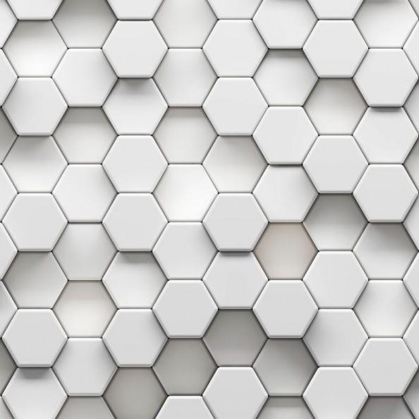 Фотообои 3d шестиугольники