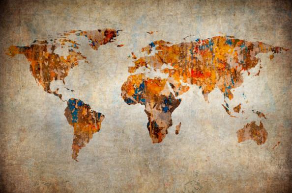 Фотообои Ржавая карта