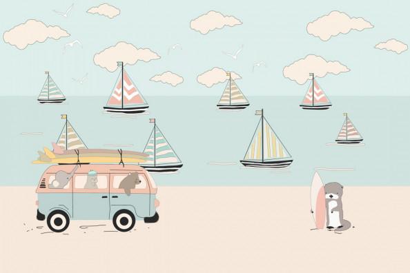 Фотообои Детские кораблики