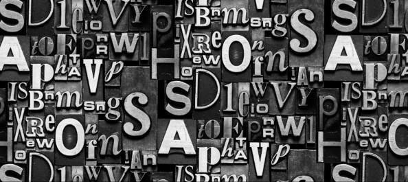 Фотообои буквы