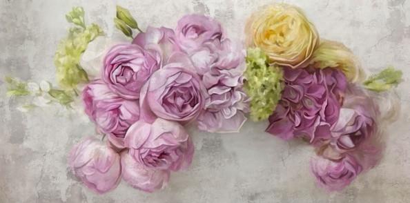 Фотообои Нежные цветы на фоне стены