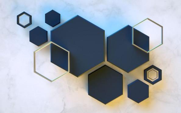 Фотообои  Объемная шестигранники