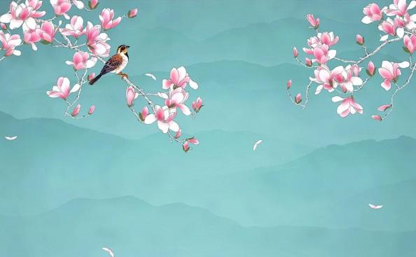 Фотообои  Китайский цветок персика