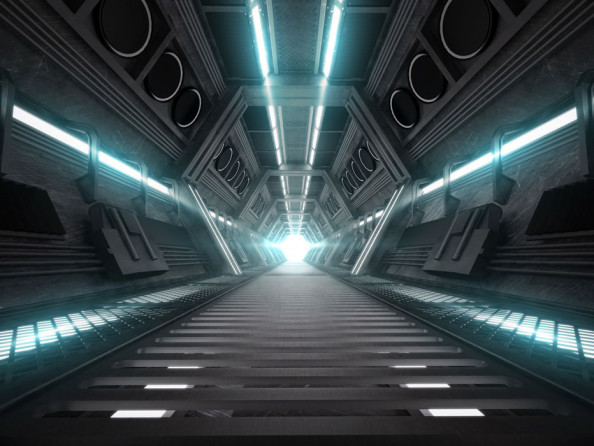 Фотообои Тоннель с подсветкой