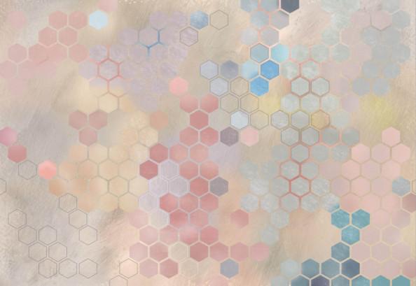 Фотообои цветные соты