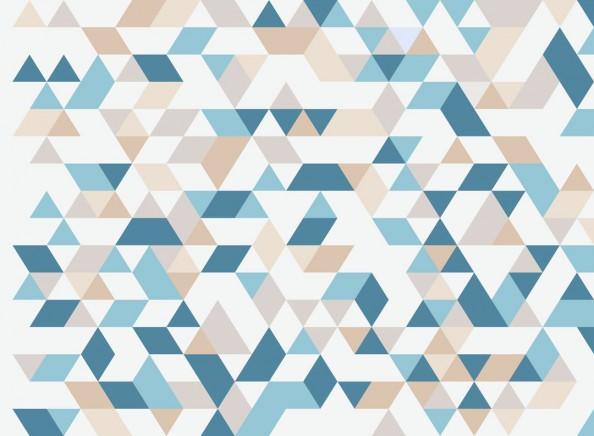 Фотообои Геометрия, разноцветные треугольники