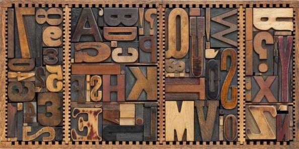 Фотообои Буквы лофт