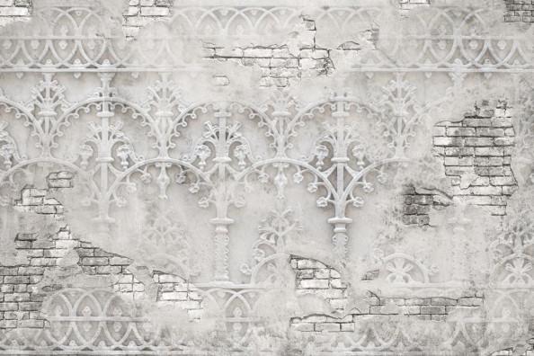 Фотообои Кирпичная стена и штукатуркой