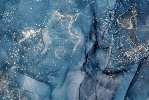 Фотообои синий флюид