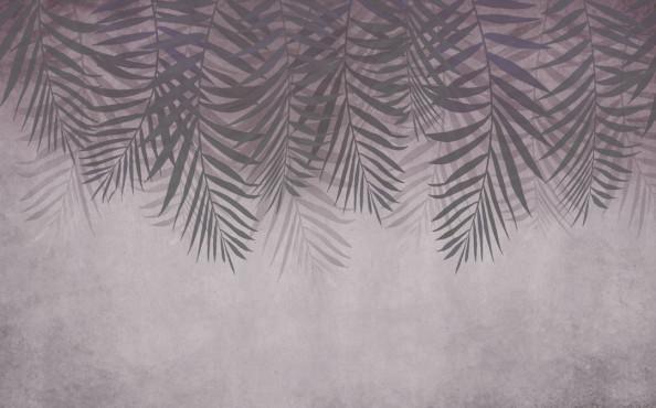 Фотообои Тропические листья с потолка