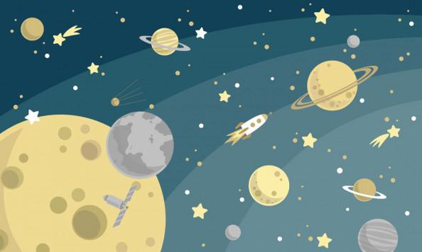 Фотообои  Детский космос