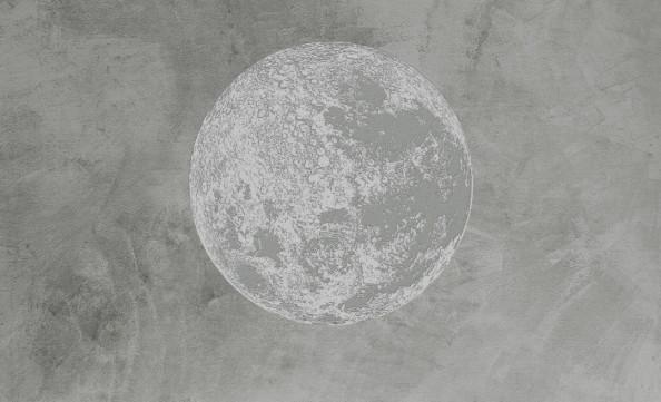 Фотообои Серая монохромная планета