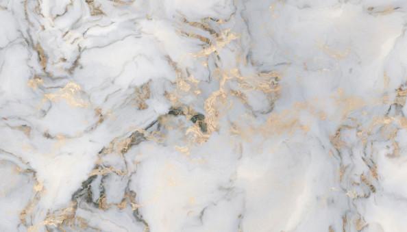 Фотообои Серый мрамор с золотом