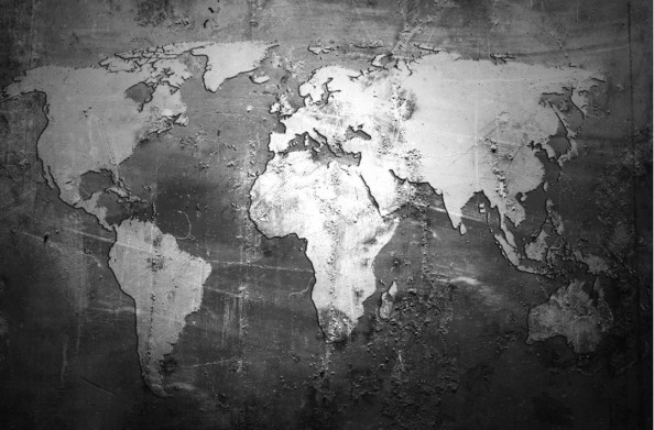 Фотообои World Map Wall Mural
