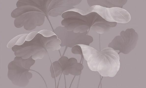 Фотообои Розовые тропические листья