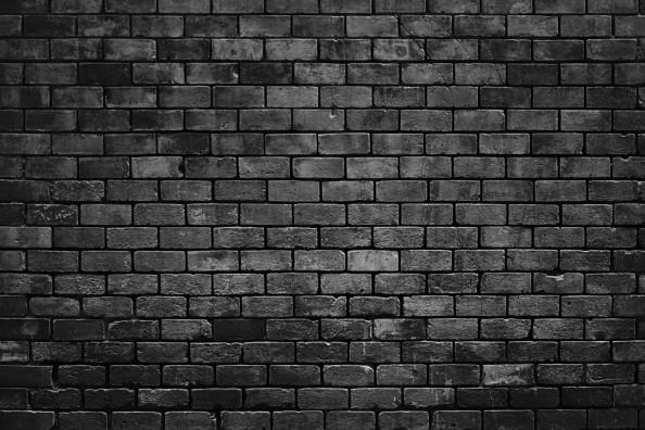 Фотообои Черная кирпичная стена