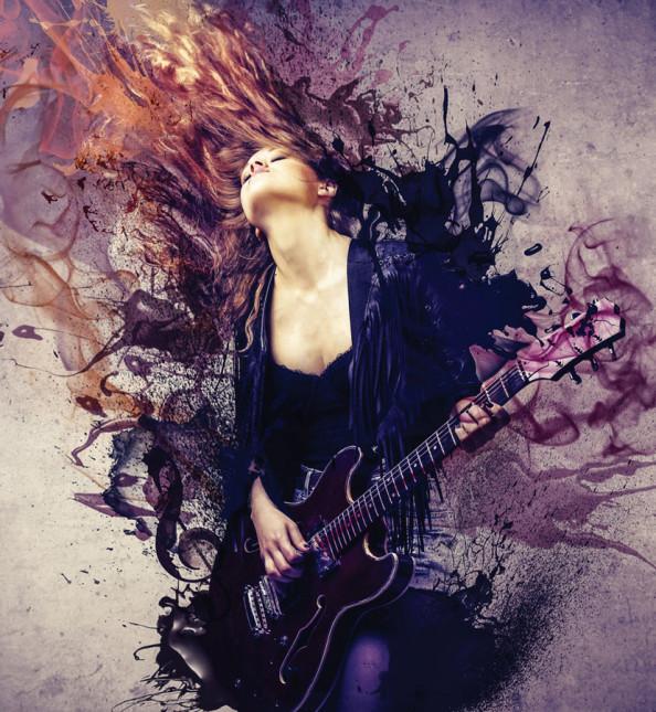 Фотообои Девушка с гитарой