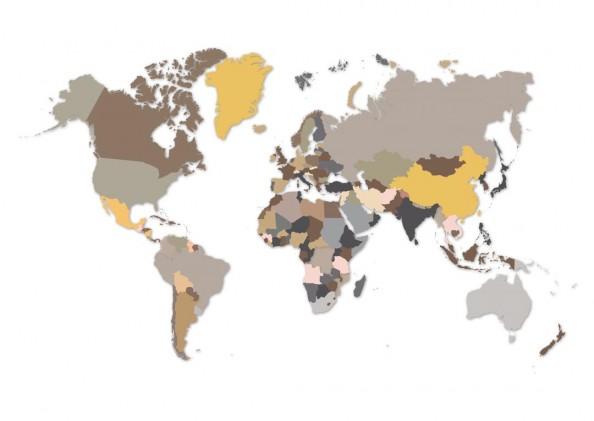 Фотообои Цветая карта мира