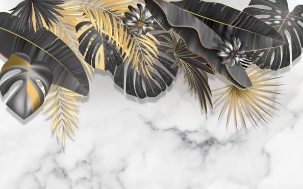 Фотообои Дизайнерские современные листья