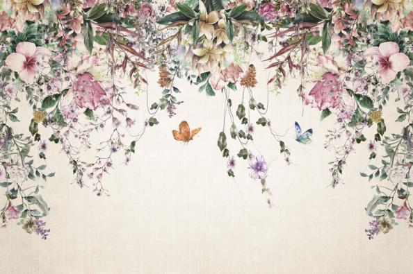 Фотообои Свисающие цветочки с потолка