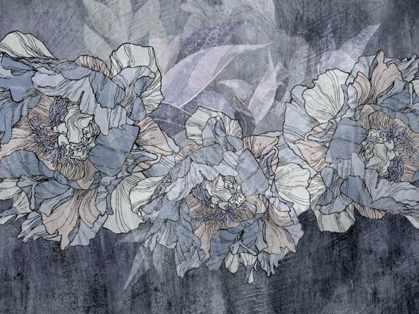 Фотообои фреска с цветами
