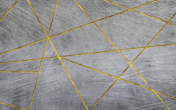 Фотообои золотые линии