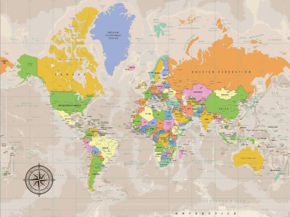 Фотообои Цветная карта