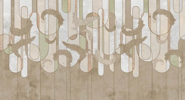 Фотообои фреска с узорами