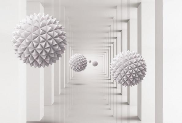 Фотообои 3д шары в тонеле