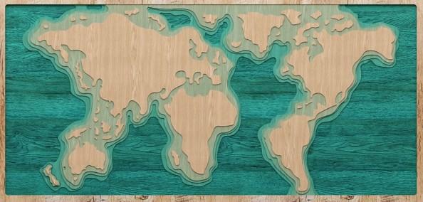Фотообои Многоуровневая карта