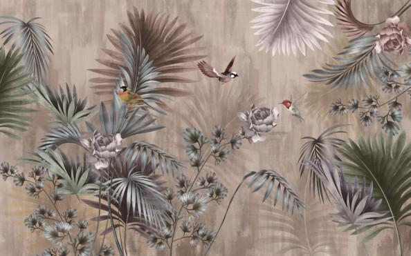 Фотообои Дерево с птицами