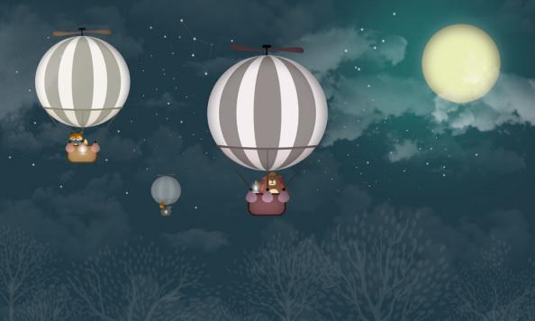 Фотообои Воздушые шары на закате